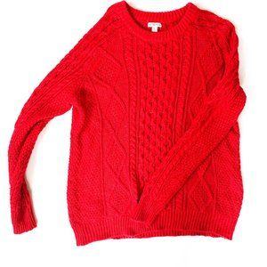 target chunky red sweater crew neck knit XL